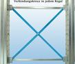Kragarmregal einseitig - hohe Stabilität durch Verbindungskreuz