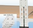 MP Fachbodenregal - inkl. 4 Verbinder