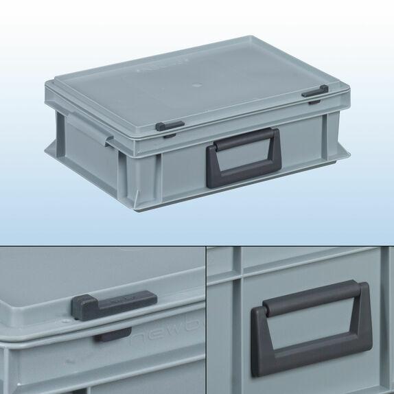 koffer eurobeh lter koffer sichtlagerk sten euro beh lter bei kaiser systeme. Black Bedroom Furniture Sets. Home Design Ideas